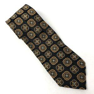 ROBERT TALBOTT Best of Class black gold tie A114